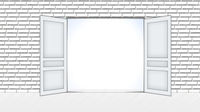 Múr, otvorené dvere dokorán
